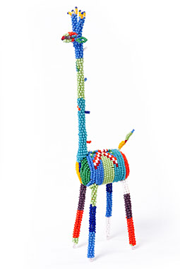 corporate gift, african craft, beaded giraffe