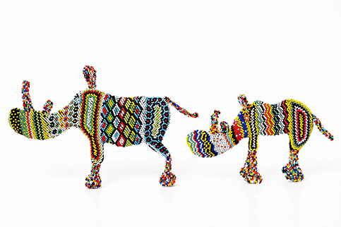 corporate gift, african craft, beaded animals